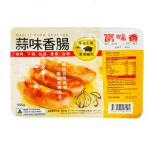 富味香冷冻蒜味香肠500g/FWX Frozen Garlic Pork Sausage 500g