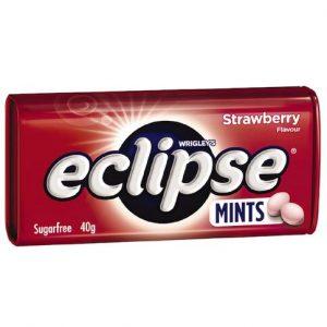 Eclipse劲凉草莓薄荷糖40g/Eclipse Strawberry Mints 40g