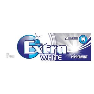 Extra White薄荷口香糖14g/Extra White Pepper Mint 14g