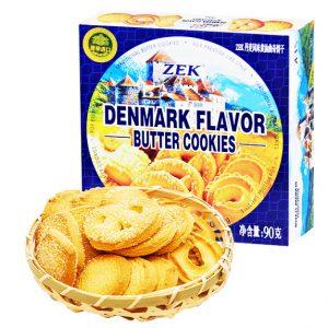 ZEK网红推荐丹麦风味黄油曲奇饼干90g/ZEK Denmark Flavor Butter Cookies 90g