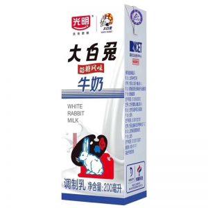 光明大白兔奶糖风味牛奶单瓶装200ML/GM White Rabbit Milk 200ML