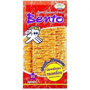 泰国Bento网红零食甜辣味鱿鱼片24g/Bento Squid Sweet & Spicy Flavor 24g