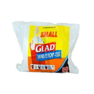 Glad可系垃圾袋白色小号50个/Glad Wave Top Tie White Small 50pk