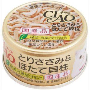 日本CIAO伊纳宝鸡胸肉带子猫粮罐头85g/CIAO Chicken Fillet And Scallop In Jelly 85g