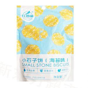 红谷林小石子饼海苔味100g/HGL Small Stone Biscuits Seaweed Flavor 100g