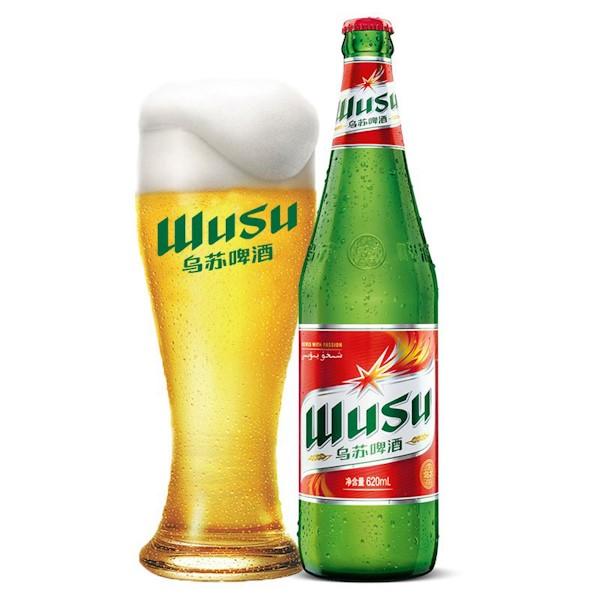 【网红推荐】新疆夺命大乌苏鲜啤 620ML/WUSU Beer 620ML Alcohol 4%VOL