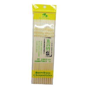 五言工艺竹筷26.5*10.5mm 10双(白色)/BAMBOO CHOPSTICKS 26.5*10.5mm 10P