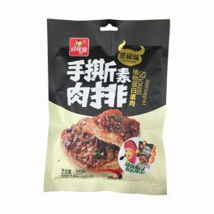 好味屋/黑椒手撕肉排 200G/HWW/VEGETARIAN META PEPPER 200G