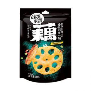 与美/劲道黑鸭味藕片 100G/YUM/DUCK FLA LOTUS ROOT 100G
